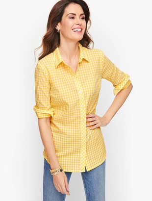 Talbots Classic Cotton Shirt - Basic Gingham