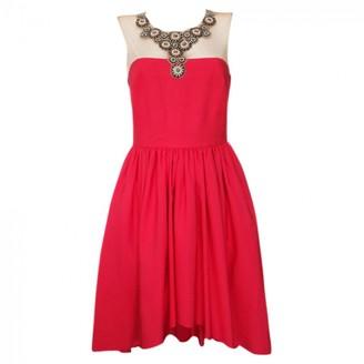 Marchesa Red Silk Dress for Women