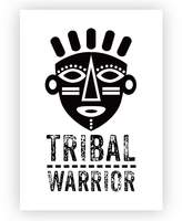 Design Mondo Tribal Warrior Art Print, A3