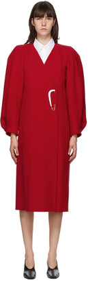 Givenchy Red Wool Varnished Pin Coat