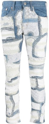 Junya Watanabe Floral Lace Panelled Jeans