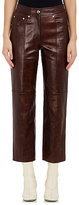 Helmut Lang Women's Distressed Leather Crop Trousers