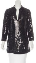 Tory Burch Sequin-Embellished Long Sleeve Tunic
