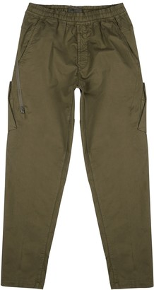 Stone Island Ghost army green stretch-twill cargo trousers