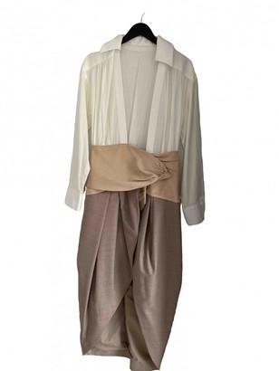 Jacquemus La Bomba Beige Wool Dress for Women
