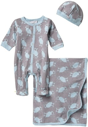 Coccoli Puffin Island Coverall & Blanket Layette Set (Baby)