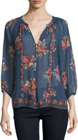 Joie Gloria F Floral-Print Silk Top