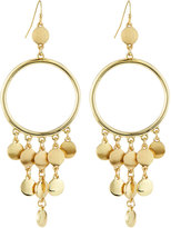 Lydell NYC Golden Open-Circle Fringe Drop Earrings