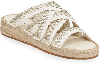 Donald J Pliner Rhonda Woven Leather Espadrille Sandals