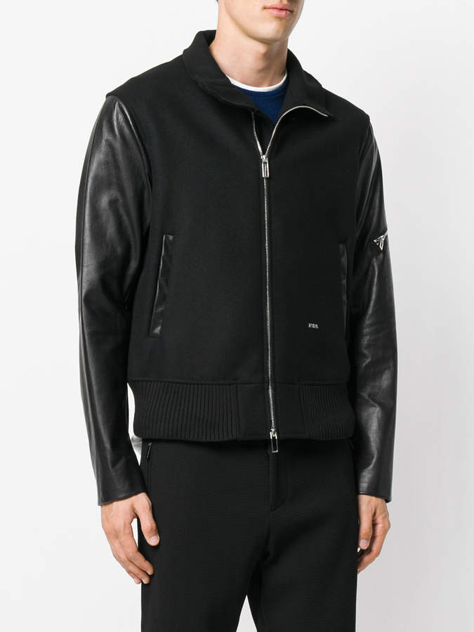 Emporio Armani panelled bomber jacket