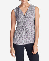 Eddie Bauer Women's Girl On The Go® Sleeveless Knot Front Top
