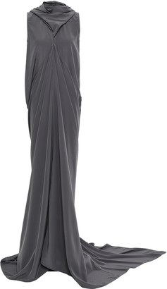 Rick Owens Draped Silk Crepe De Chine Gown