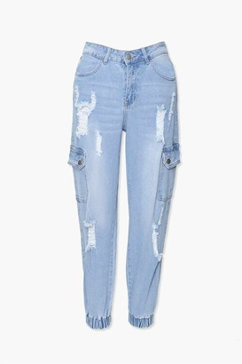 Forever 21 Distressed Jogger Jeans