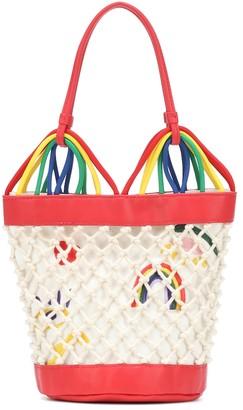Stella McCartney Embroidered bucket bag