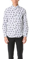 Club Monaco Slim Button Down Floral Shirt