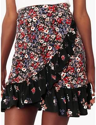 Oasis Ditsy Print Ruffle Skirt, Multi