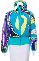Emilio Pucci Printed Down Coat w/ Tags