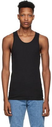 Calvin Klein Underwear Three-Pack Black Cotton Tank Top