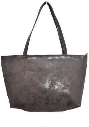 Latico Leathers Brown Metallic Leather Tote
