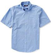 Roundtree & Yorke TravelSmart Short-Sleeve Paisley Printed Sportshirt