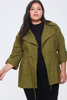 Forever 21 Plus Size Zip-Up Utility Jacket
