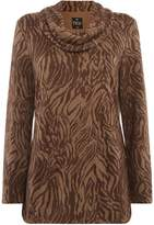 Tigi Animal Printed Cowl Neck