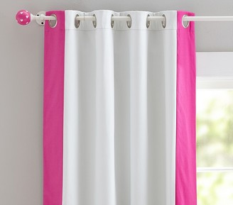 Pottery Barn Kids Color Bordered Blackout Curtain