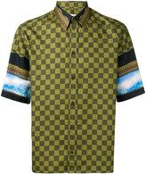 Givenchy checked panel shirt - men - Cotton - 39