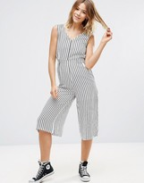 Glamorous Stripe Jumpsuit With Tie Waist