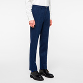 Paul Smith Men's Mid-Fit Indigo Cotton And Wool-Blend Denim-Effect Trousers