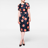 Paul Smith Women's Navy 'Peach' Print Satin Shift Dress