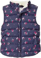Gymboree Navy Floral Puffer Vest - Toddler & Girls