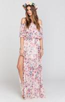 MUMU Hacienda Maxi Dress ~ Green Wedding Shoes Floral