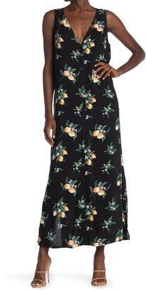 Soprano Lemon Print Maxi Dress