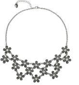Liz Claiborne Silver-Tone Glass Stone Drama Bib Necklace