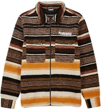 Pleasures Explorer Striped Wool-blend Fleece Jacket
