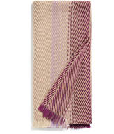 Johnstons of Elgin Beige and Fuchsia Chunky Ombre Merino and Cashmere-Blend Scarf