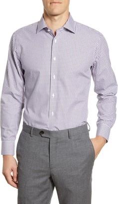 The Tie Bar Trim Fit Check Dress Shirt