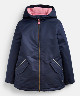 Joules Girls' Rain Coats - Navy Raindrop Raincoat - Toddler & Girls
