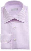 Stefano Ricci Striped Cotton Dress Shirt, Lavender