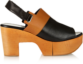 Robert Clergerie Carine wooden-platform leather sandals