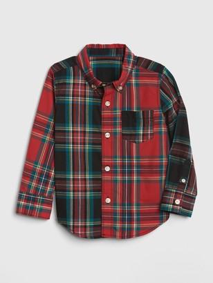 Gap Baby Mix-Plaid Shirt