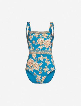 Jets Enchantment floral-print swimsuit