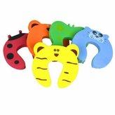 GOOTRADES Baby Kids Safety Finger Pinch Cartoon Animal Foam Door Stopper Cushion (pack of 10)