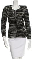 Etoile Isabel Marant Tweed Leather-Trimmed Jacket
