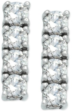 Giani Bernini Cubic Zirconia Bar Stud Earrings in Sterling Silver, Created For Macy's