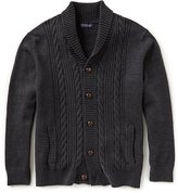 Roundtree & Yorke Big & Tall Shawl Cable Cardigan Sweater
