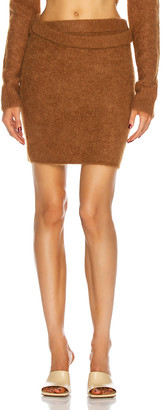Helmut Lang Double Wrap Skirt in Sienna | FWRD