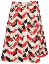 Kitsune Maison Printed A-line Skirt