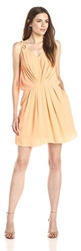 BCBGeneration Women's Detailed-Strap V-Neck Dress